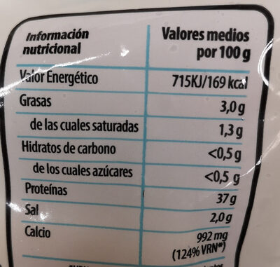 Queso tierno - Informations nutritionnelles