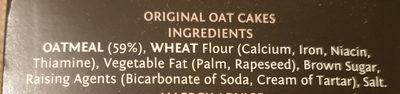 Large Oatcakes - Ingredients