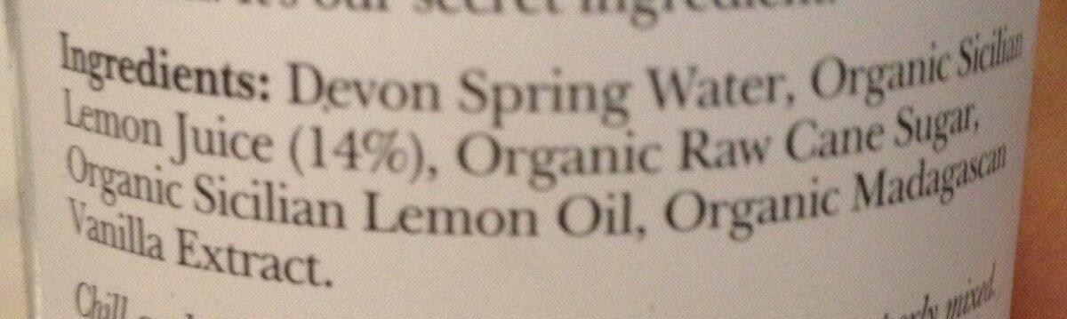 Sicilian Lemonade - Ingrédients