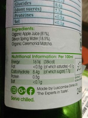 Matcha Green Tea - Ingredients