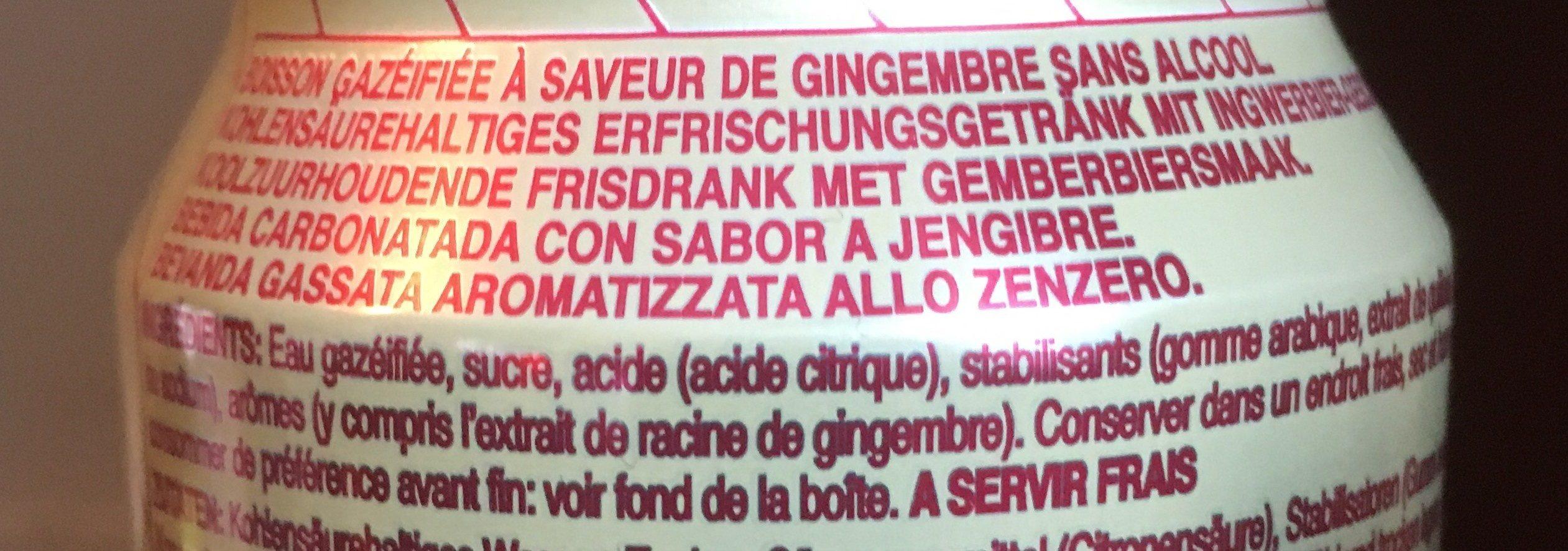 Ginger Beer Soda - Ingrediënten - fr