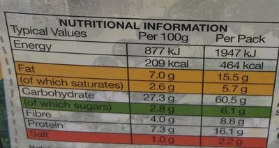 A-Mezze-Ing Wrap - Nutrition facts