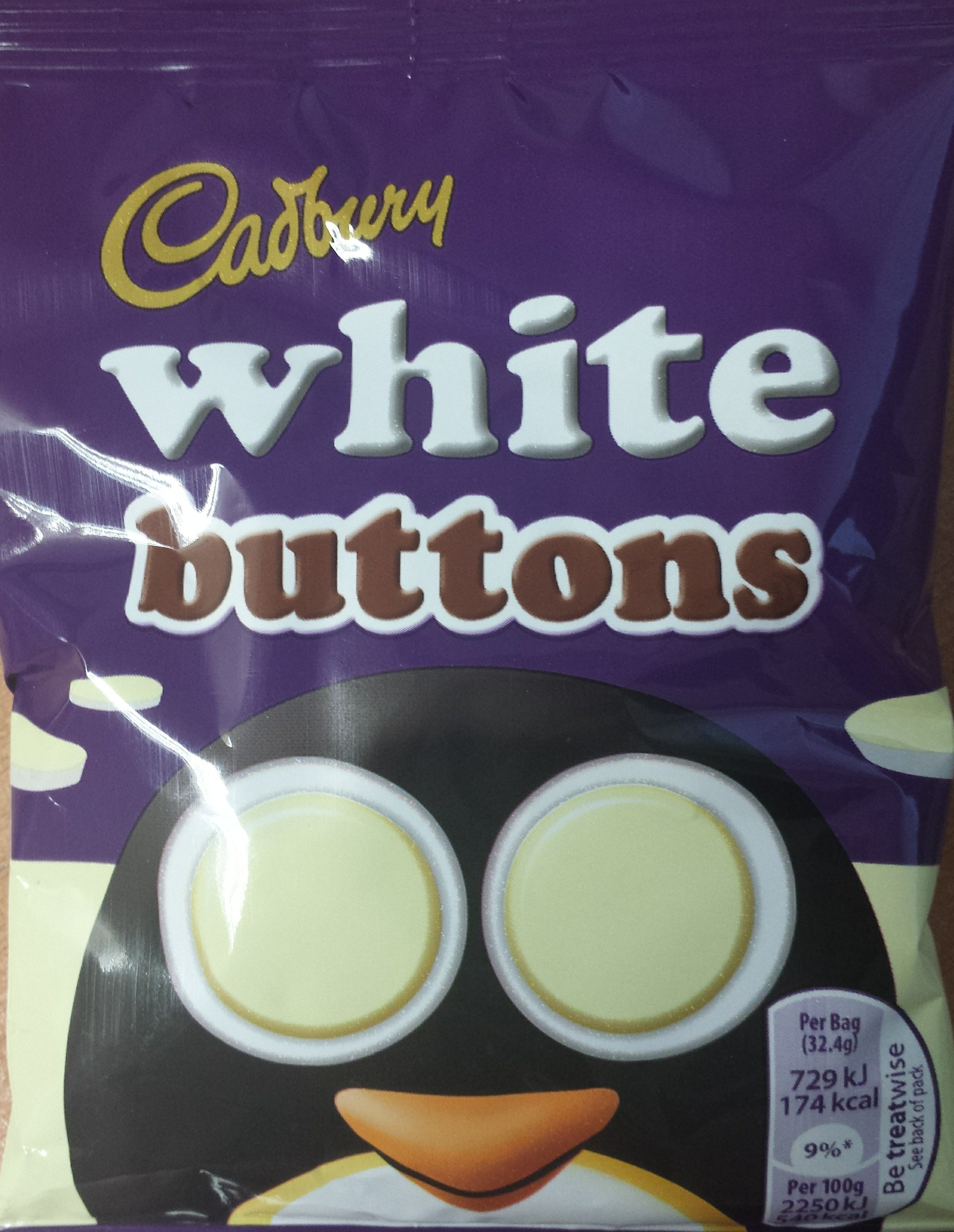 Cadbury buttons chocolate pieces white chocolate - Product - en