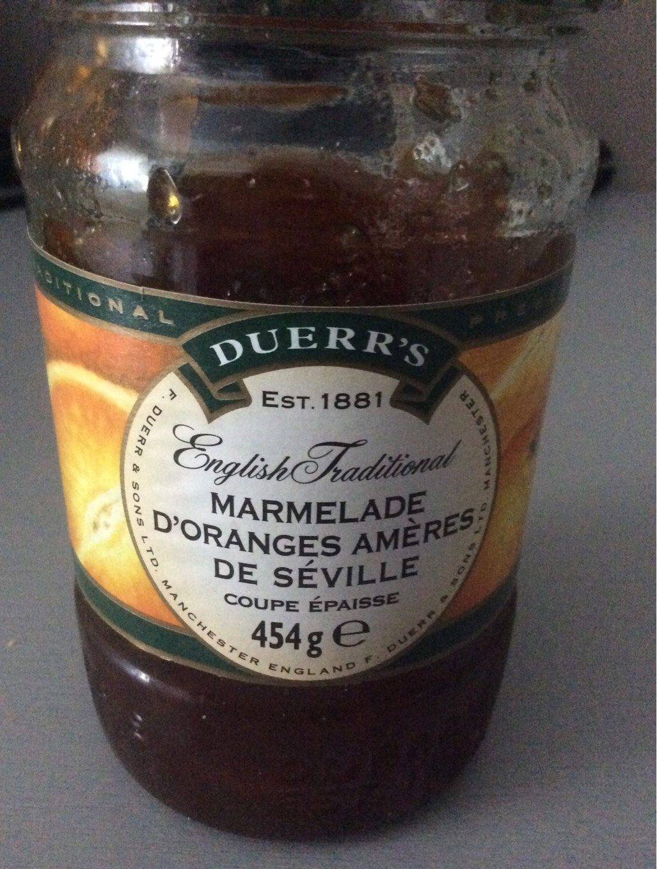 Seville Orange Thick Cut Marmalade - Informations nutritionnelles
