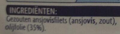 Ansjovisfilets in olifolie - Ingrediënten - nl