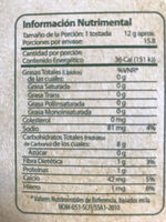 Nopalia tostadas horneadas - Nutrition facts