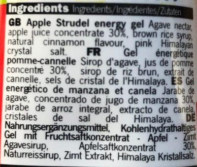 Mulebar gel pomme cannelle - Ingrédients