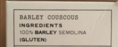 Barley couscous - Ingrédients - en