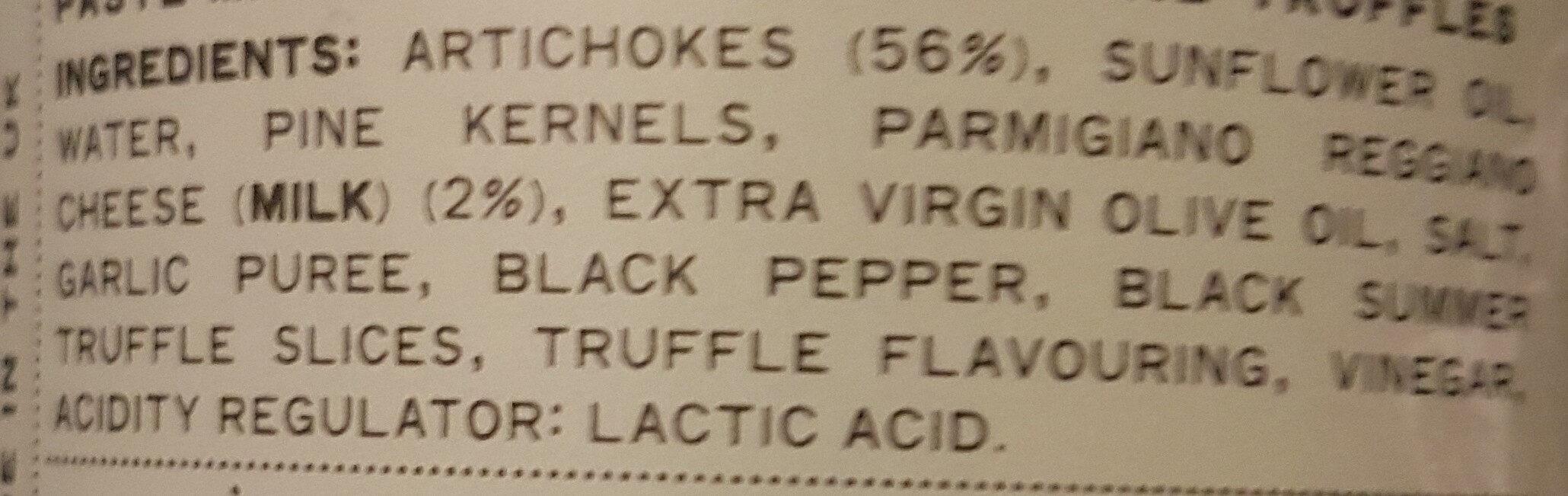 Truffle and artichoke - Ingrédients - en
