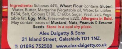 Selkirp bannock - Ingredients - en