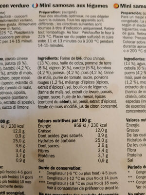 mini samosas - Ingrédients