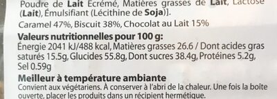 DELICES CARAMEL - Nutrition facts - fr