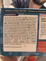 Gâteau Les Lapins Crétins Lightbody - Ingredients