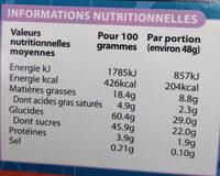 Gâteau Les Lapins Crétins Lightbody - Nutrition facts