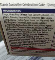 Xbox Cake - Ingredienti - en