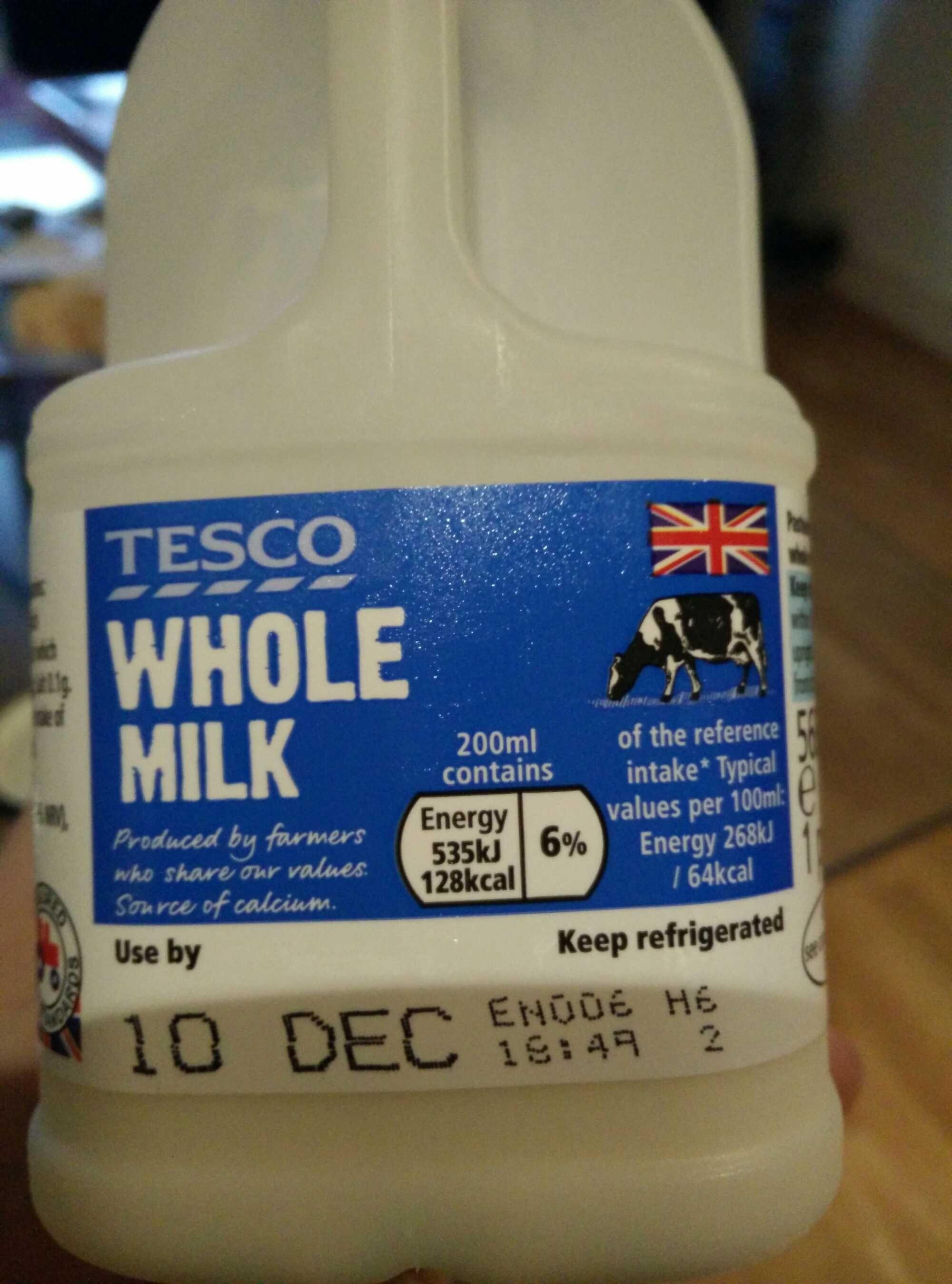Whole Milk Tesco 568 Ml