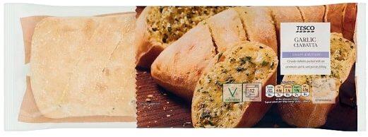 Tesco Garlic Ciabatta - Produit - en
