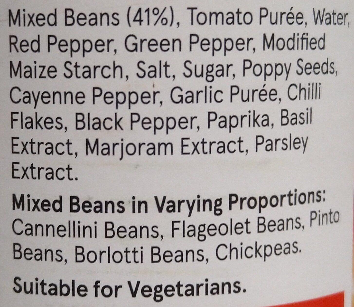 hot & spicy mixed beans - Ingredients - en