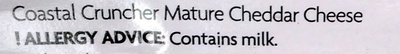 Coastal Rugged Mature Cheddar - Ingrédients - en