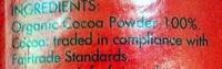 Cocoa - Ingrediënten