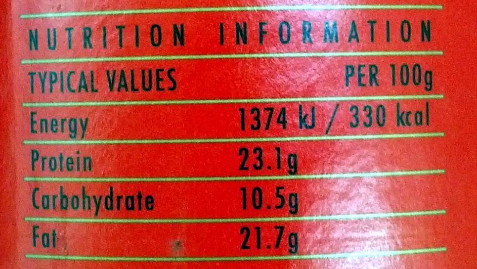 Cocoa - Voedingswaarden