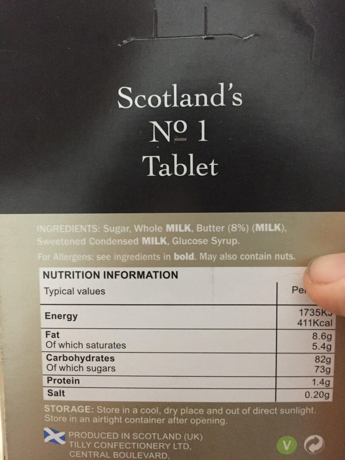 Mrs Tilly's Tablet - Ingrediënten