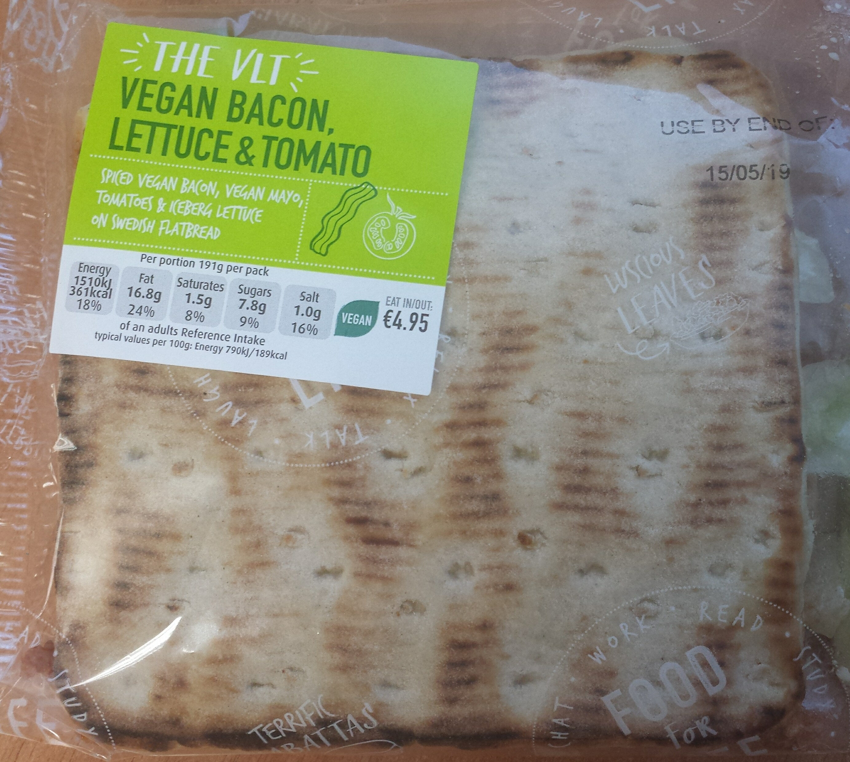 The VLT - Vegan Bacon, lettuce and tomato - Product