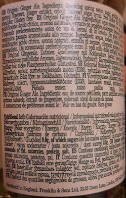 Ginger ale - Valori nutrizionali - en