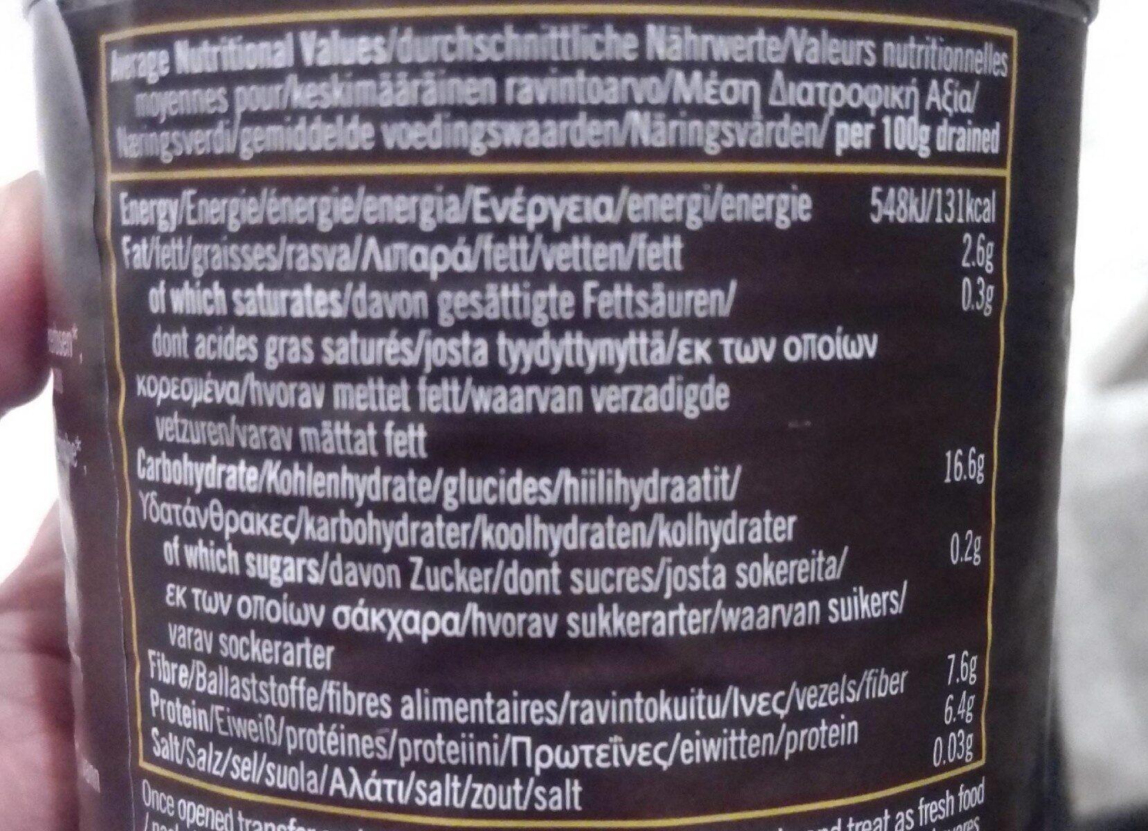 Green Olives - Informació nutricional - fr