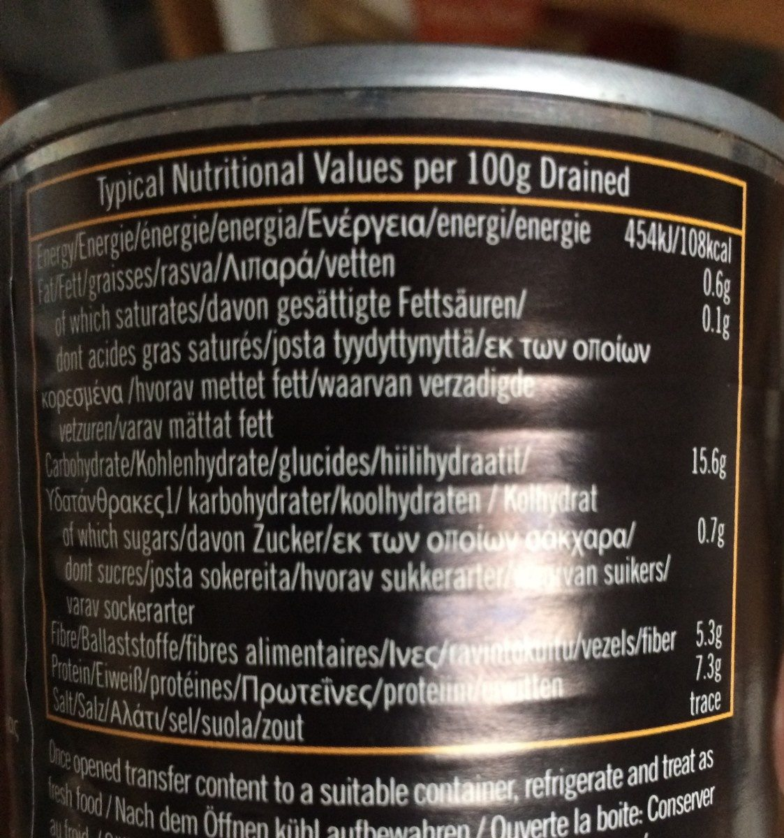 Butter Beans - Nutrition facts - en