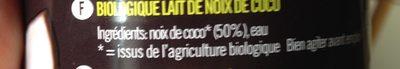LAIT DE COCO 17%MG - Ingredients - fr