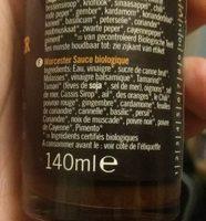 Biona Organic Worcestershire Sauce - Ingredients