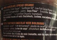 Dark Chocolate Spread - Ingrédients - fr