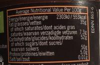 Biona Dark Chocolate Spread - Voedigswaarden