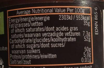 Dark Chocolate Spread - Informations nutritionnelles - fr