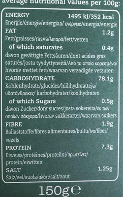 Amisa Organic Corn And Rice Crispbreads - Voedingswaarden - fr
