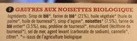 Hazelnut Waffles - Ingrédients - fr