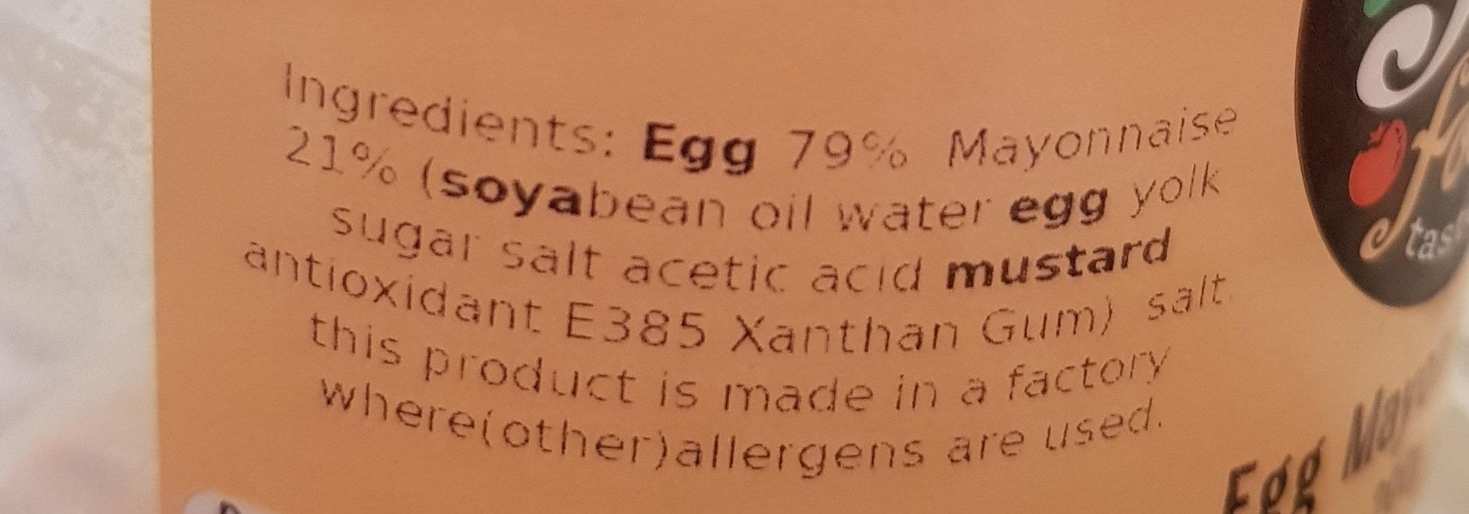Egg mayonnaise - Ingredients - en