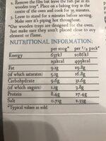 Fish Pie - Nutrition facts - en