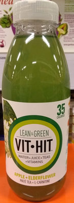 Hit Lean & Green Apple + Elderflower + Maté Tea + L-Carnitine - Product - en