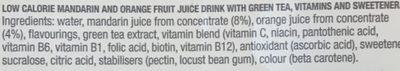 Hit Detox Mandarin Green Tea + amins - Ingrediënten - fr