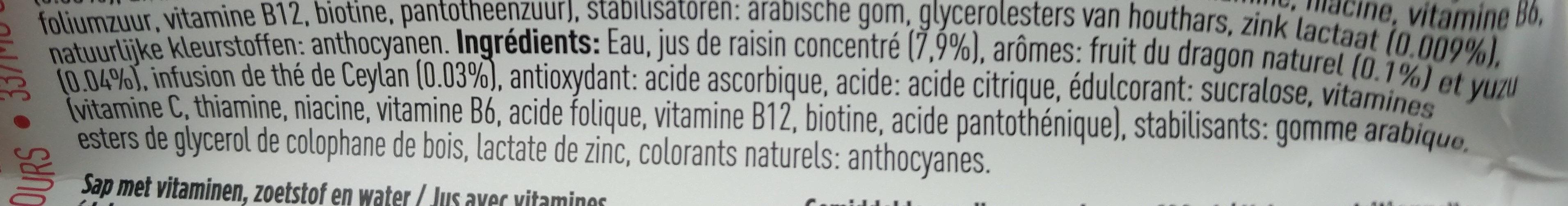 Vithit Immunitea Dragon Fruit - Ingrediënten - fr