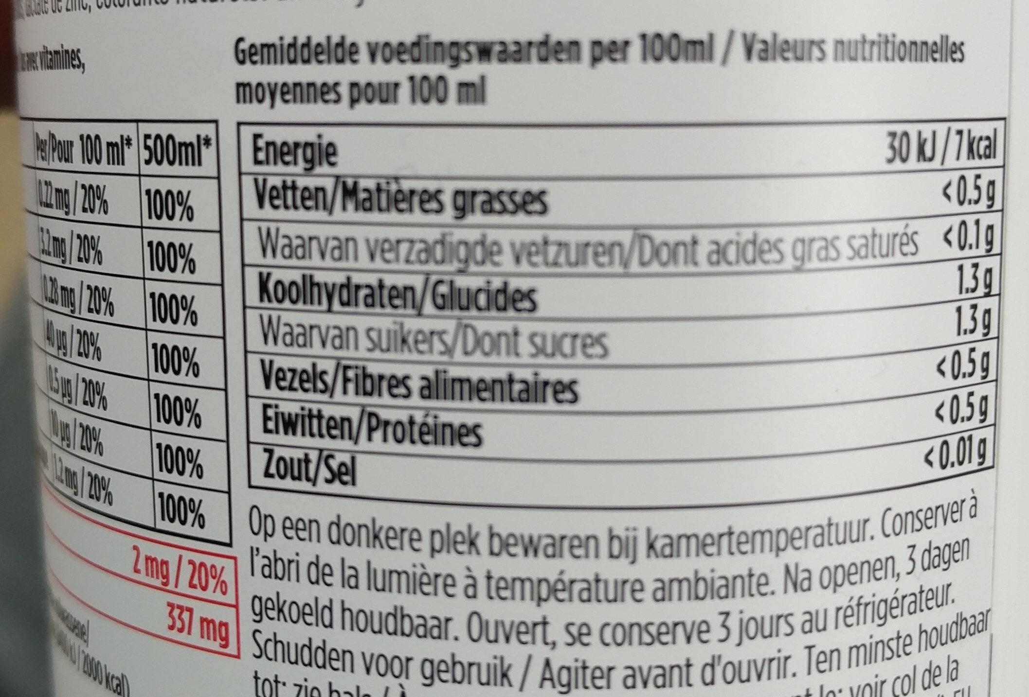 Vithit Immunitea Dragon Fruit - Voedingswaarden - fr