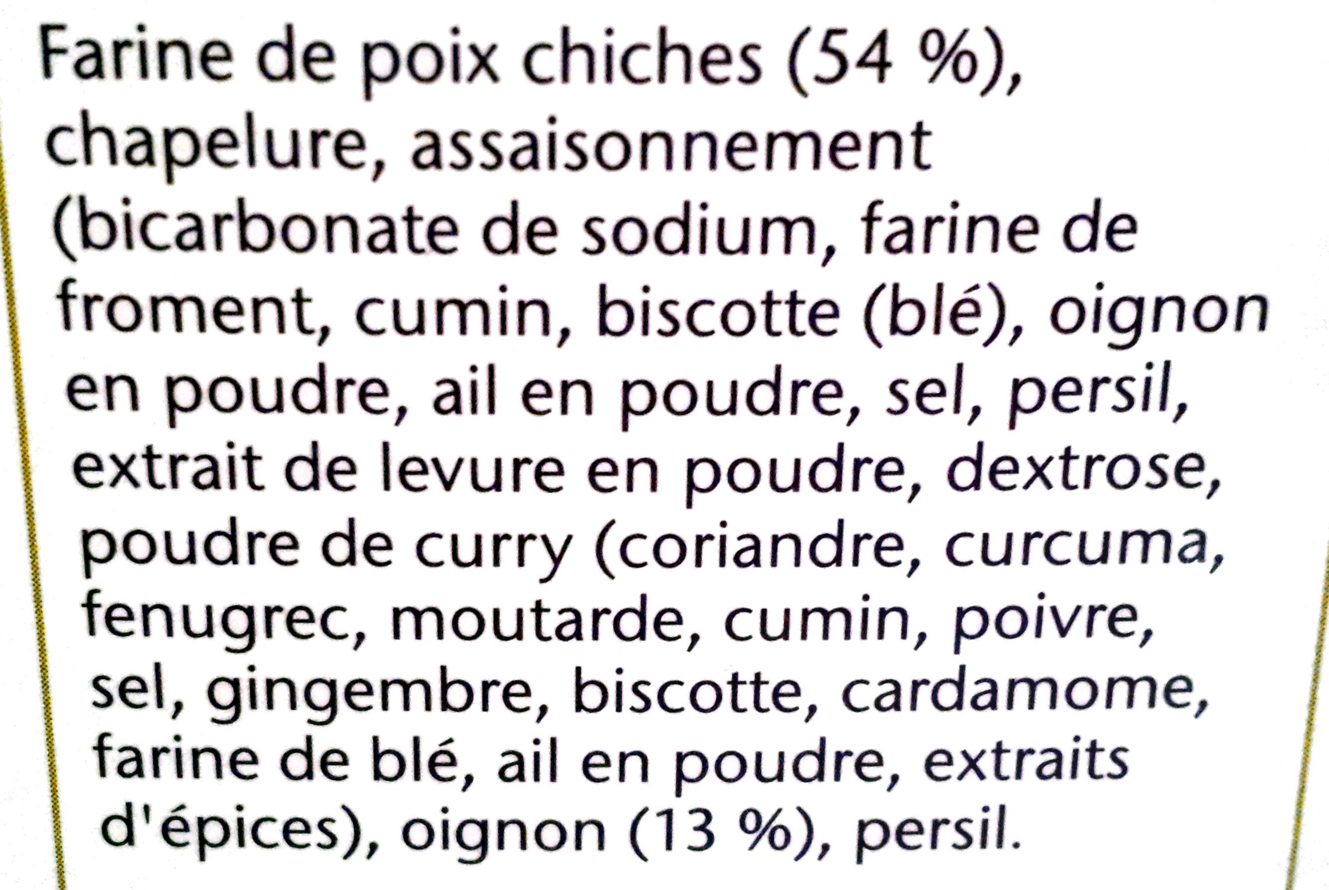 Lebanese Style Falafel - Ingredienser - fr