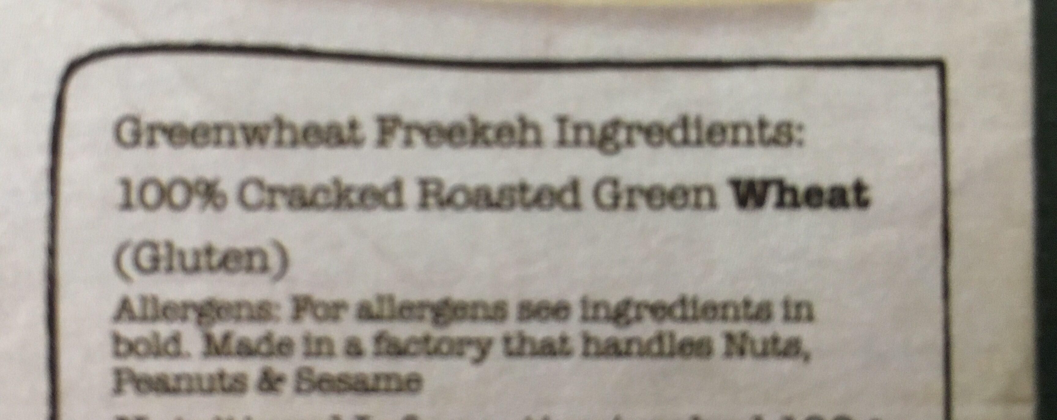 Artisan Grains Freekeh - Ingrediënten - fr