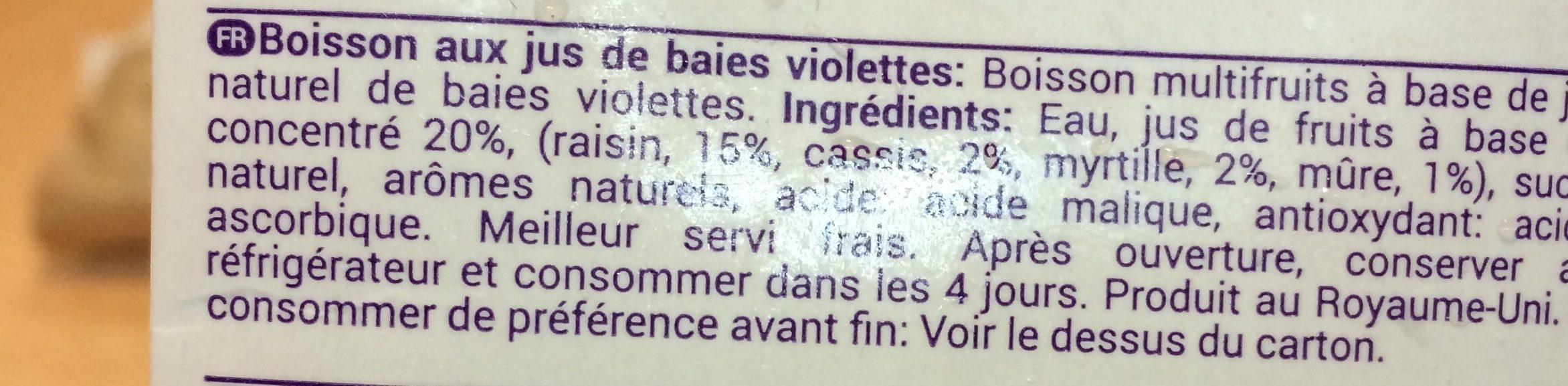 Superberries Purple - Ingrediënten