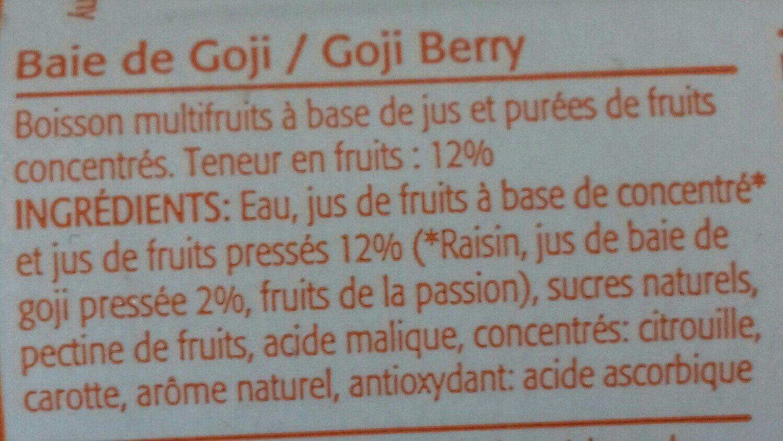 Baies de goji - Ingrédients
