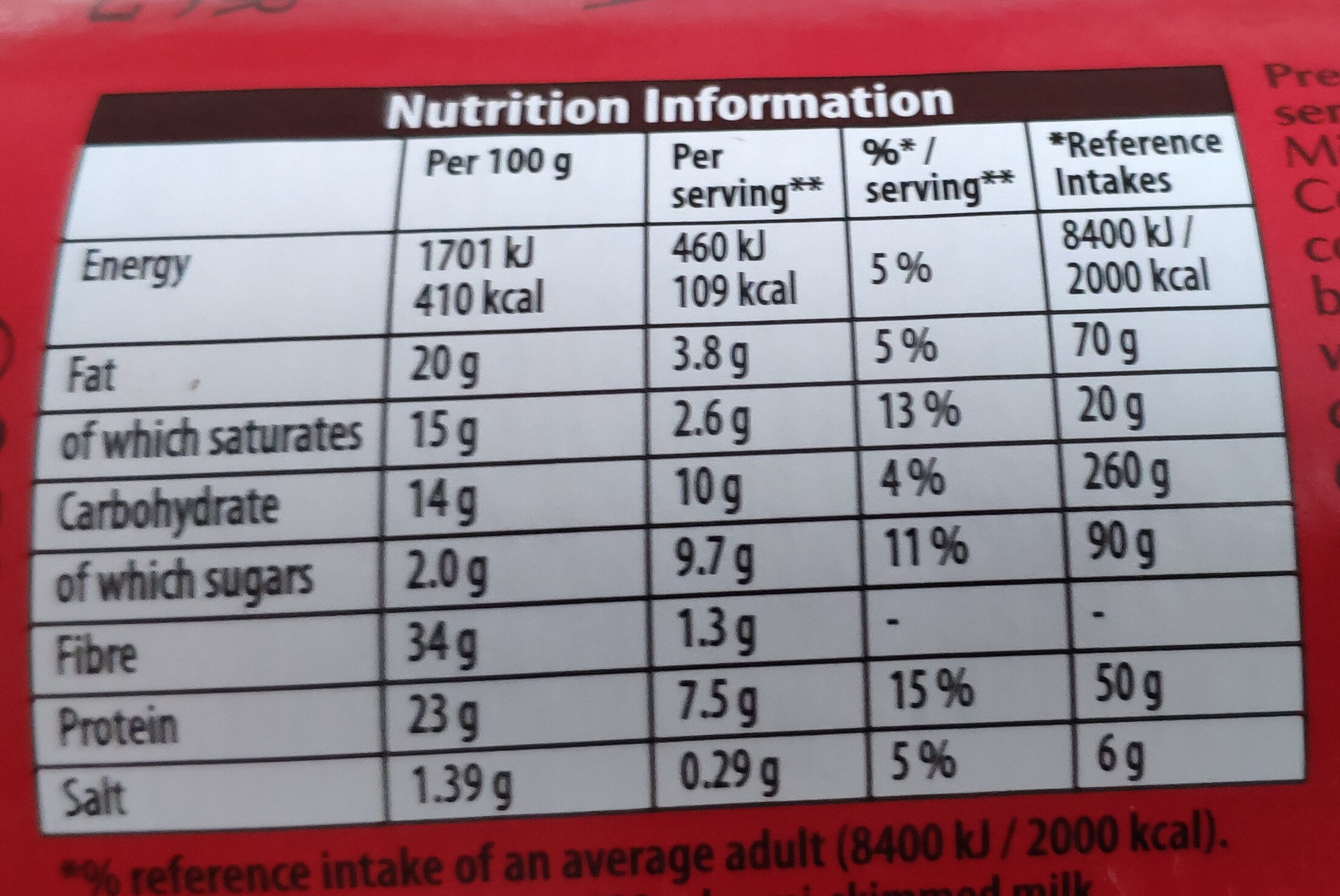 Bournville Cocoa - Nutrition facts - en