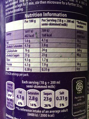 Drinking Chocolate - Voedingswaarden - en