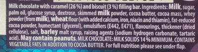 Cadbury boost chocolate bar - Ingrediënten - en
